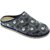 Schuhe Damen Pantoffel Riposella RIP2626blu blu