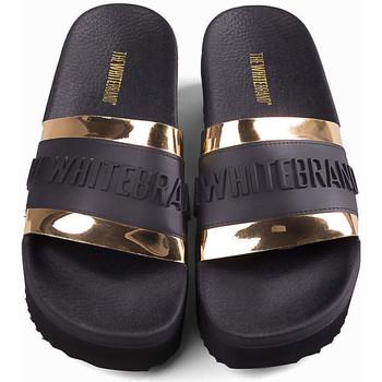 Schuhe Damen Sneaker Thewhitebrand High twb relief gold Schwarz