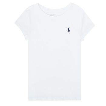 Kleidung Mädchen T-Shirts Polo Ralph Lauren ZALLIE Weiss