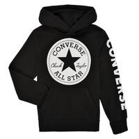 Kleidung Jungen Sweatshirts Converse SIGNATURE CHUCK PATCH HOODIE Schwarz