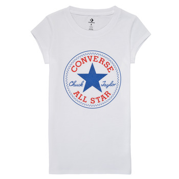 Kleidung Mädchen T-Shirts Converse TIMELESS CHUCK PATCH TEE Weiss