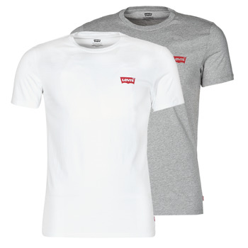 Kleidung Herren T-Shirts Levi's 2PK CREWNECK GRAPHIC Weiss