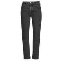 Kleidung Damen Boyfriend Jeans Levi's 501 CROP Schwarz