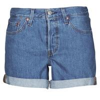 Kleidung Damen Shorts / Bermudas Levi's 501 ROLLED SHORT Blau