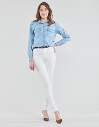 Kleidung Damen Röhrenjeans Levi's 721 HIGH RISE SKINNY Weiss
