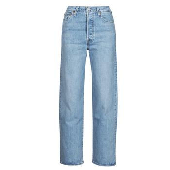 Kleidung Damen Straight Leg Jeans Levi's RIBCAGE STRAIGHT ANKLE Blau