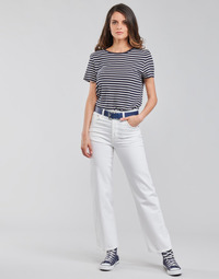 Kleidung Damen Straight Leg Jeans Levi's RIBCAGE STRAIGHT ANKLE Weiss