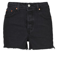 Kleidung Damen Shorts / Bermudas Levi's RIBCAGE SHORT Schwarz
