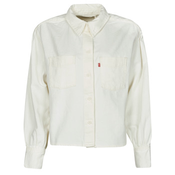 Kleidung Damen Hemden Levi's ZOEY PLEAT UTILITY SHIRT Weiss