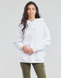 Kleidung Damen Sweatshirts Levi's GRAPHIC RIDER HOODIE Weiss