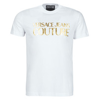 Kleidung Herren T-Shirts Versace Jeans Couture TIKI Weiss / Gold