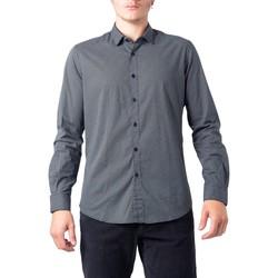 Kleidung Herren Langärmelige Hemden Hydra Clothing BU21W11CA/FIO2121 Nero