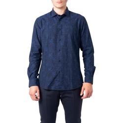 Kleidung Herren Langärmelige Hemden Hydra Clothing BU21W07CA Blu