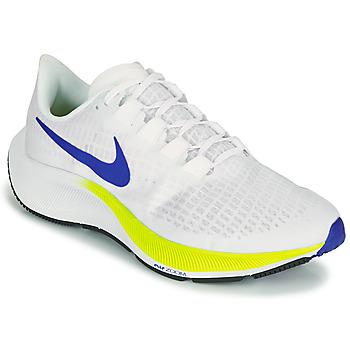 Schuhe Herren Laufschuhe Nike AIR ZOOM PEGASUS 37 Weiss / Blau / Gelb