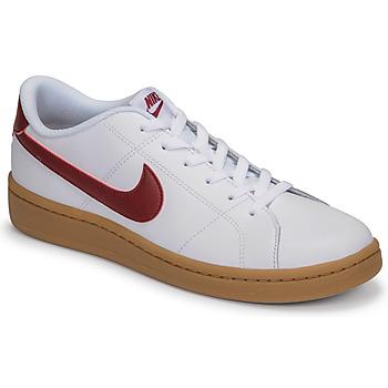 Schuhe Herren Sneaker Low Nike COURT ROYALE 2 LOW Weiss / Rot