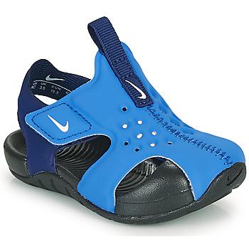 Schuhe Jungen Pantoletten Nike SUNRAY PROTECT 2 TD Blau