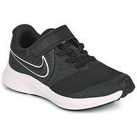 Schuhe Kinder Multisportschuhe Nike STAR RUNNER 2 PS Schwarz / Weiss