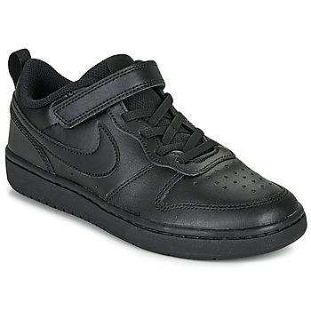 Schuhe Kinder Sneaker Low Nike COURT BOROUGH LOW 2 PS Schwarz