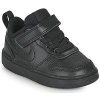 Schuhe Kinder Sneaker Low Nike COURT BOROUGH LOW 2 TD Schwarz
