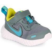 Schuhe Jungen Multisportschuhe Nike REVOLUTION 5 TD Grau / Blau