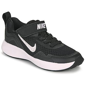 Schuhe Kinder Multisportschuhe Nike WEARALLDAY PS Schwarz / Weiss