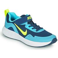 Schuhe Jungen Multisportschuhe Nike WEARALLDAY PS Blau / Grün