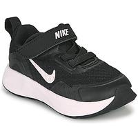 Schuhe Kinder Multisportschuhe Nike WEARALLDAY TD Schwarz / Weiss
