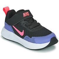 Schuhe Mädchen Multisportschuhe Nike WEARALLDAY TD Schwarz / Blau