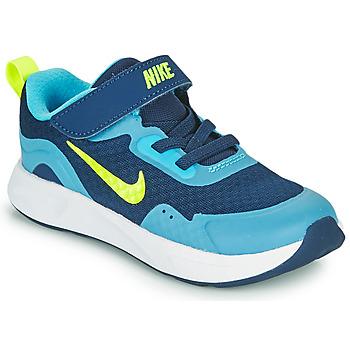 Schuhe Jungen Multisportschuhe Nike WEARALLDAY TD Blau / Grün