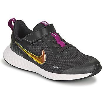 Schuhe Mädchen Sneaker Low Nike REVOLUTION 5 SE PS Schwarz
