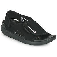 Schuhe Kinder Pantoletten Nike SUNRAY ADJUST 5 V2 PS Schwarz