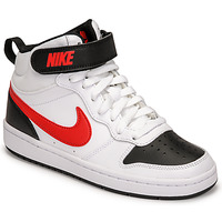 Schuhe Jungen Sneaker Low Nike NIKE COURT BOROUGH MID 2 Weiss / Rot / Schwarz