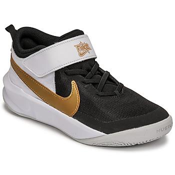 Schuhe Kinder Multisportschuhe Nike NIKE TEAM HUSTLE D 10 Weiss / Schwarz / Gold