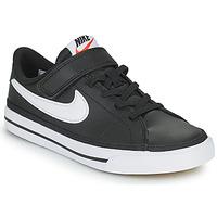 Schuhe Kinder Sneaker Low Nike NIKE COURT LEGACY Schwarz / Weiss