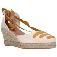 Schuhe Damen Leinen-Pantoletten mit gefloch Carmen Garcia 41s5 mostaza Mujer Amarillo jaune