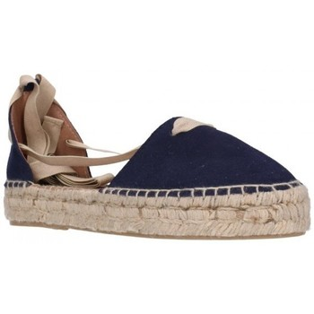 Schuhe Damen Leinen-Pantoletten mit gefloch Carmen Garcia 92D30 azul 300 Mujer Azul bleu