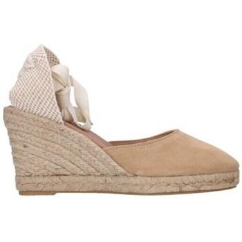 Schuhe Damen Leinen-Pantoletten mit gefloch Carmen Garcia 48s7 ARENA Mujer Beige beige