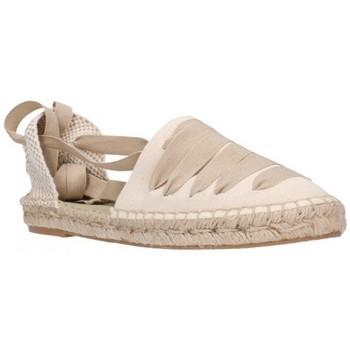 Schuhe Damen Leinen-Pantoletten mit gefloch Carmen Garcia 39S16 Beig Mujer Beige beige
