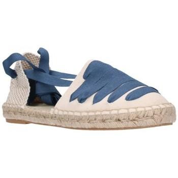 Schuhe Damen Leinen-Pantoletten mit gefloch Carmen Garcia 39S16 Jeans Mujer Jeans bleu