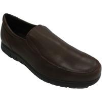 Schuhe Herren Slipper Bartty Glatter Herrenschuh mit fetter Sohle Bar Braun