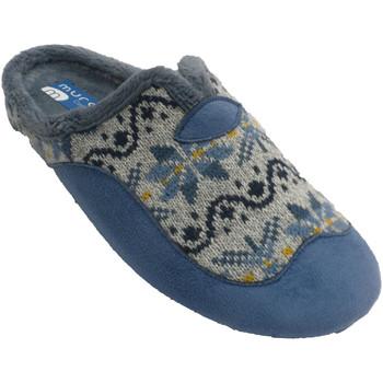 Schuhe Damen Hausschuhe Muro Frauenschuhe öffnen sich am hinteren Öff Blau