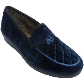 Schuhe Damen Hausschuhe Aguas Nuevas Geschlossene Damenschuhe mit Stickerei a Blau
