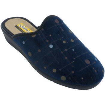Schuhe Damen Hausschuhe Aguas Nuevas Frauenpantoffeln öffnen sich hinter Tupf Blau