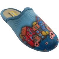 Schuhe Damen Hausschuhe Aguas Nuevas Flip-Flops Frau öffnen sich hinter Zeich Blau