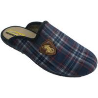 Schuhe Herren Hausschuhe Aguas Nuevas Karierte Turnschuhe für Herren öffnen si Blau