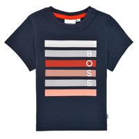 Kleidung Jungen T-Shirts BOSS FINITANA Marine