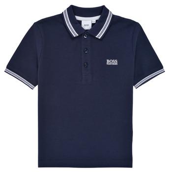 Kleidung Jungen Polohemden BOSS TONNELA Marine