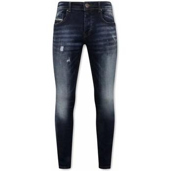 Kleidung Herren Slim Fit Jeans True Rise Stretch Jeans Für Blau