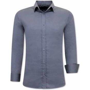 Kleidung Herren Langärmelige Hemden Tony Backer Klassische Slim Grau