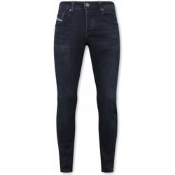 Kleidung Herren Slim Fit Jeans True Rise Stretch Jeans Blau